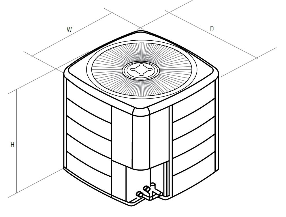 Размеры габариты тепловых насосов наружных блоков