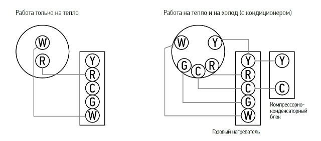 Схема подключения комнатного реостата